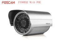 Wholesale Foscam FI9805E POE HD MegaPixel P Outdoor IP Security Network IP Camera H Auto interruptor DDNS IP Camera