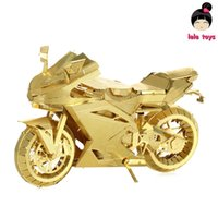 animal etchings - Pandamodel ICONX Metal Earth PIECECOOL Same style MOTORCYCLE II golden D Metal model Etching puzzle Assembling originality
