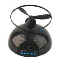 battery operated time clock - Flying Helicopter Digital Alarm Clock Time Snooze Loud Battery Operated Gift