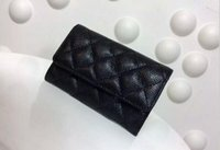 key cover - Classic lambskin caviar hasp Card ID Holder women quilted wallet genuine leather famous brand wallet small purse