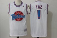 Wholesale 2016 Newest Product TAZ Tune Squad Jersey Number Color White TAZ Baksetball Jersey S XL For
