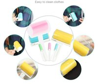 Wholesale New Design Dust Clothes Tumble Lint Rollers Washable Electrostatic Dust Brush To Brush Clothes Sticky Hair Device For Clothes