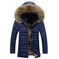 Wholesale Winter Jacket Men Coats Thick Warm Casual Fur Collar Down Coat Winter Windproof Hooded Outwear Men Outwear Parkas Brand New