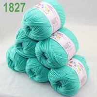 Wholesale Sale of balls x g Cashmere Silk velvet Children Yarn Teal