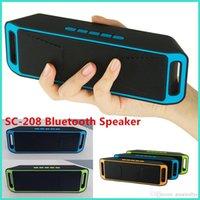 SC-208 Bluetooth Mini haut-parleur sans fil A2DP haut-parleurs portables stéréo Hifi Radio FM Sound Box mains libres Soutien TF VS BT808 BT50