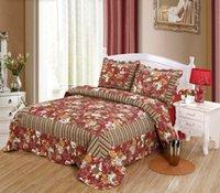 Wholesale JESSY HOME New piece Reversible Comfortable Cotton Bedspread Coverlet Quilt Set