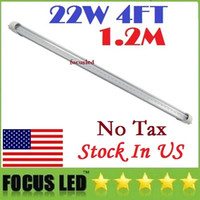 Wholesale HOT Sale ft T8 Led Tube High Super Bright W W W Warm Cold White Led Fluorescent Bulbs AC110 V Led Tubes Lights lighting