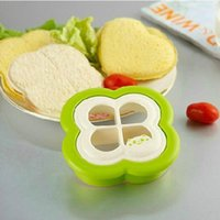 benefit sale - Hot Sale New Clover Shape Bread Mold Sandwich Bread Mold Homemade Nutritious Breakfast Cake Molds preferential benefit HY900