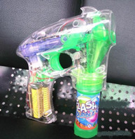 beach items - New Fashion Flashing Bubble Gun Light Up Blower Blaster With LED Lights Great Party toys hot selling
