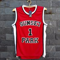 active parks - TIM VAN STEENBERGEB Fredro Starr Shorty Sunset Park Basketball Jersey Number Color Red S XL For