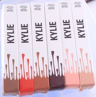 Wholesale Kylie Lip Kit By Kylie Jenner Lipstick Kylie Lip Gloss Liquid Lipstick Matte Lipliner Make Up Cosmetics DHL XL M15