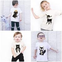 baby chick - Children Summer T shirt Girls Boys Short Sleeve T shirt Summer Kids Little Fox Deer Chick Cartoon Animals Infant Baby T shirt
