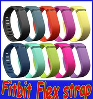 Wholesale Wearables Wrist Straps Fitbit Flex Wristband Large Small Band with Metal Clasps Replacement Rubber TPU Wrist Strap for Smart Wristbands