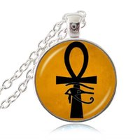 ancient egyptian life - Ancient Eye of Horus Ra Ankh Necklace Cross of Life Pendant God Egypt Amulet Necklace Ward off Evil Spirit Mummy Egyptian Collection Jewelry