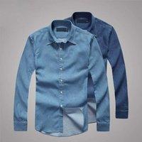 Wholesale 2016 New Small Horse Denim Shirt Men Cotton Long Sleeve Men Shirts High Quality Plus Size Brand Clothing