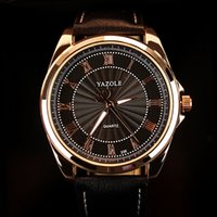best casual watch for men - Yazole quartz watch for men black best cheap WristWatch luxury man casual stainless Luminous Leisure Fashion Leather watch Relogios