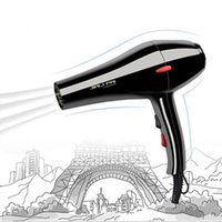 Wholesale New hair dryer Black professional blow dryer Hot and cold wind W M free nozzles Styling tools