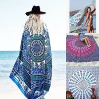 wall hanging tapestry - HOT Floral Summer Beach Towel Shawl Hippie Tapestry Hanging Indian Mandala Tapestries Bedspread Home Garden Square Wall Decors DHL