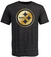 banner t shirt - Steelers T Shirts cheap rugby football jerseys Pittsburgh Salute To Service Banner Wave Black Gold Collection Tshirts freeshipping
