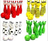 Wholesale Sell like hot cakes animal cartoon bowling wooden children s educational toys toys for children