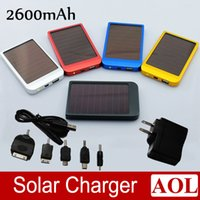 battery by cell phone - 5 colors MAH Solar Battery Panel Charger portable power bank power mobile for Cell Mobile Phone MP3 with Retail Box by DHL Fedex