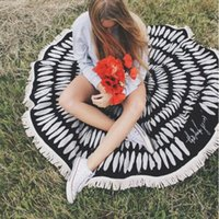 Wholesale pieces cm cm Boho Printed Round Beach Pool Home Shower Bath Towel Blanket Summer