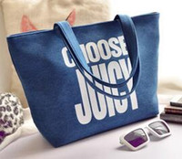 Wholesale The new han edition denim canvas bag handbag fashion single shoulder bag is small and pure and fresh leisure bag