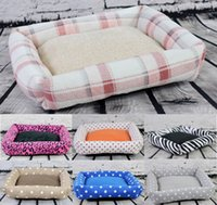 Wholesale 6 Colors Soft Fleece Pet Dog Cat Mat Foldable Rectangle Bed for Small Medium Large Dogs Delivery Drop Shipping cm cm cm