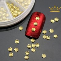 beauty salon stickers - 100pcs set New Shell d Nail Art Sticker Decoration Studs Gold Silver Metal Alloy Glitter Charm DIY Beauty Salon Nail Tools