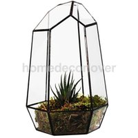 Wholesale Glass Terrarium Hexagonal Fairy Miniature Garden House Greenhouse x10x19cm