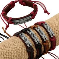 al por mayor brazalete de regalos de la fe-Brazaletes unisex cool nuevo producto moda regalos pulseras fe creen joyas hombres wristband brazalete brazaletes pulseras