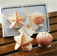 best giveaways - Sets Best Wedding Favors Beach Style Seashell and Starfish Salt Pepper Shaker Party Table Reception Giveaways