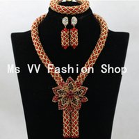 red coral beads necklace - Gorgeous Coral red Nigerian African Beads Jewelry Set Dubai Gold Wedding Jewelry Set Price Beads Set
