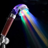 Wholesale Colors Change Led Shower Tourmaline SPA Anion Hand Held Bathroom Led Shower Head Filter Hand Shower Saving Water