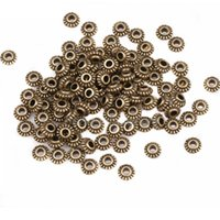 alloy wheels blue - 100pcs mm Vintage Tibetan Silver Wheel Gear Spacer Beads Metal Charms For DIY Jewelry Making