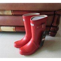 Wholesale 2016 New Arrival hunter boot sale Waterproof boots hunter wellies over knee boee boots rain boots hunter Muti color rain boots women size