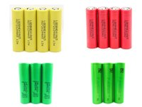 Wholesale 100 Authentic Battery Samsung R LG HE4 HE2 Sony VTC4 Flat Top High Drain Batteries Fitting Smok Alien G Priv Mod Kit