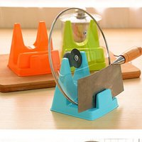 Wholesale Creative kitchen supplies quality Colorful Multifunctional lid rack rack chopping block knife holder