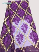 Wholesale Hot selling african Tulle lace fabric high quality best cotton african lace fabric for Embroidery Swiss voile lace fabric DLN25