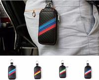 Wholesale 1pcs auto truck vehicleCar Carbon Remote Key Bag Case Holder Cover For BMW