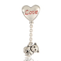 Wholesale Dangle beads charms S925 sterling silver fits for pandora bracelets Pudsey aleLW633S276H9