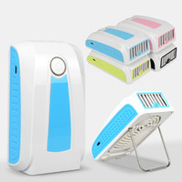 Wholesale New Fasion Design Portable USB Fan Cooler Power Bank Charger Air Conditioner with DHL Fedex UPS