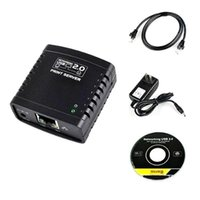 Cheap ASDOMO USB 2.0 LRP Print Server Share a LAN Networking USB Printer Ethernet Hub Adapter F1354 W0.5
