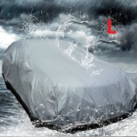 Wholesale Car Full Cover Single Layer PEVA Waterproof Anti UV Dust Resistant Vehicle Protection Covering Outdoor Indoor Universal Sun Rain
