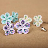 best polymer clay - 2016 New Fashion Earrings Jewelry Cute Polymer Clay Earrings Stud Glue Needle Not Allergic Mix Design Best Gift