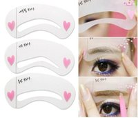 Wholesale Eyebrow shaping eyebrow card artifact word eyebrow aids beauty makeup thrush card