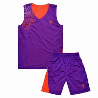 Wholesale The new basketball suit adult mem children double sided mesh breathable absorbent number printed basketball jersey set