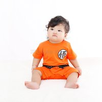 baby goku - Anime DragonBall Goku KungFu Jumpsuit Baby Toddler Fancy Dress Costume Outfit Romper Halloween Costume LC375