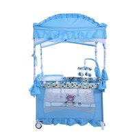 Wholesale HOT SALE Luxury palace mosquito net crib multifunction portable playpen children s beds Baby Cribs