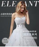 Wholesale Wedding Dresses Bridal gowns new style wedding dresses trailing lace bridal Korean bandage dress women